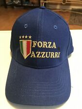 ITALY NATIONAL TEAM SOCCER CAP FORZA AZZURRI OFFICIALLY NEW FREE SHIPPING