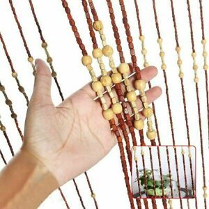 Wooden Beaded Door Curtain Window Hanging Blind Bug Fly Insect Screen (18103)