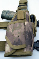 Tactical Leg Thigh Gun Pistol Holster or Open Carry Belt Holster ATACS AU Camo