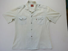 F-015 VINTAGE 70s LEVIS SHIRT SHORT SLEEVE BUTTON UP VERY LIGHT BLUE SIZE M