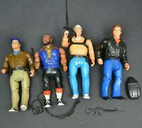 Vintage Galoob lot of 4 A TEAM Figures 1983 Action Figure Set Mr T