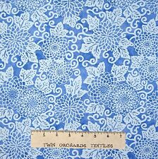 Riverwoods Fabric - Light Blue Floral - Midnight Blue Cotton YARD