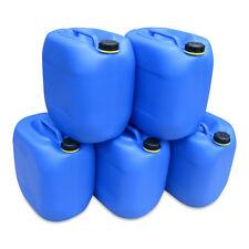 5 x 30 L Behälter Plastikeimer Kanister Wasserbehälter Box lebensmittelecht NEU.