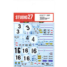 Studio27 DC1137 1:24 Ferrari 512SScuderia Filipinetti #3/#4/#16 1970 Decals