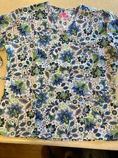 Women'S Scrub Mock Wrap Top, Favorite Floral By I Love Scrubs, Xl, Nwt