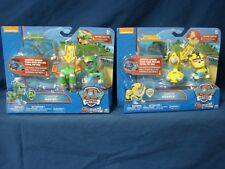 Lot 2 Paw Patrol Sea Patrol Pup Pack Lights Up Rocky Rubble Spin Master 2016