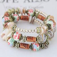 Bracelets Beads Bangles Woman Colorful Jewelry Multilayer Boho Beach Wristband