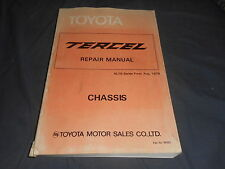 1980 Toyota Tercel USA Market Factory Servide Manual