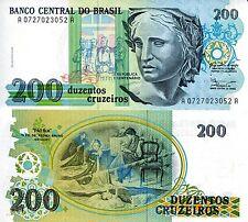 BRAZIL 200 Cruzeiros Banknote World Paper Money UNC Currency Pick p229 Bill