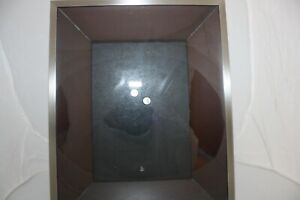 """Umbra Loft Picture Frame Silver & Wood Shadowbox Type 5 x 7"""""""