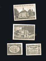 4x Notgeld  Serie Stadt LANGENWIESEN  Thüringen 5, 10, 25, 50 Pf  numeriert 1921
