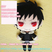 Anime DRRR Orihara Izaya Comicon DIY Plush Doll Toy Keychain Best Gift Moe Girl