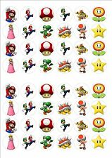 Super Mario Rice Paper Fairy Cake Toppers x 48 SM2