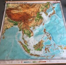 Vintage CLOTH roll up map 1 Layer Asia Vintage, Salvage, Old, Antique