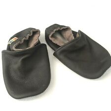 YALION Soft Sole Leather Baby Shoes First Walking Moccasins Toddler NWOT Brown L
