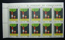 1976 ITALIA 150  lire Giornata Del Francobollo   10  valori   MNH**