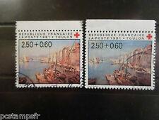 FRANCE 1991, VARIETE de COULEURS timbre 2733a, CROIX ROUGE, oblitéré, VF STAMPS