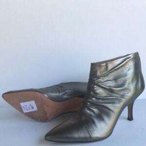 Corso Como Womens Metallic Leather Bootie 8.5M Pewter
