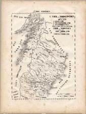 Suecia-Sverige-noruega-Norge/Noreg-litografía-mapa-Map 1829