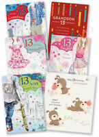 13th 13 Thirteen Birthday Greeting Card Granddaughter Grandson Daughter Son