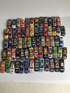 Nascar Diecast Lot Of 65 Loose Cars Hot Wheels Racing Champions Vintage Action