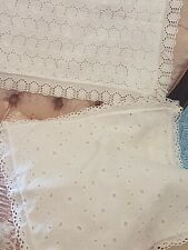 2 Different White Cot/Pram Pillowcases, One Vintage, The Other Mothercare