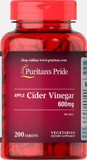 Puritan's Pride Apple Cider Vinegar 600 mg Made In USA