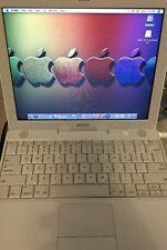 Vintage Apple iBook Powerbook G4 12 1.2Ghz 768 Meg Ram 55GB HD OSX10.5 A1054