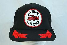 "Vintage ""Superior Red Deer"" Mesh Trucker Snapback Hat Firetruck Patch"