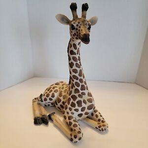 "Wildlife Giraffe Resin Statue Figurine Large 12 1/2""  X 10"" X 7"""
