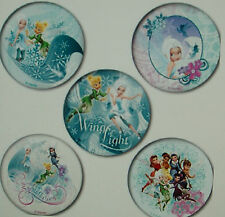 """20  TINKER BELL  2.5"""" x 2.5"""" Round Party Favour Stickers"""
