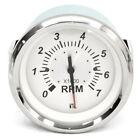 Teleflex Boat Tachometer Gauge 67529f 7000 Rpm White Silver