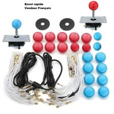 Kit Joysticks Arcade 2 Joueurs Boutons COMPLET Encodeur USB Zéro Retard