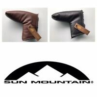 Sun Mountain Leather Putter Headcover. Black or Brown.