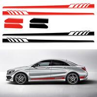2x Coche Cuerpo Falda lateral Etiqueta de vinilo Pegatina Fit for Mercedes-Benz