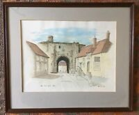 Watercolour The Landgate Rye Signed W S Libby Mounted And Framed