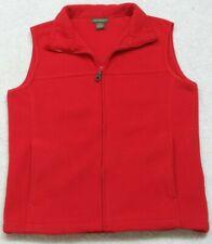 Fleece Vest Jacket Coat Red Sleeveless Mans Zipper Front Small Great Northwest