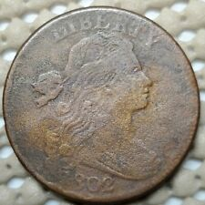 1802 Draped Bust Large Cent 1¢ Coin Copper • 10.89 g • ⌀ 29 mmKM# 22