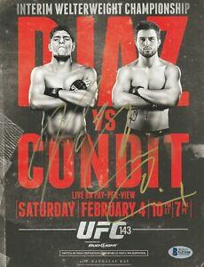 NICK DIAZ CARLOS CONDIT SIGNED AUTO'D MINI POSTER BAS COA UFC 143 WEC ELITE XC B