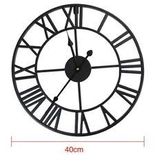 Large Outdoor Garden Wall Clock Big Roman Numerals Giant Open Face Metal 40/60CM
