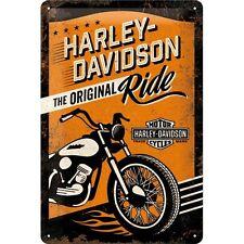 PLAQUE EN METAL EMAILLEE NEUVE 20 X 30 cm : HARLEY-DAVIDSON ORIGINAL RIDE