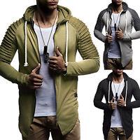Men's Slim Fit Casual Hoodies Sports Coats Jacket Gym Sweatshirt Tops Outerwear