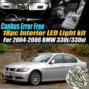 18Pc CANbus Error Free Interior LED White Light Kit for 2004-2006 BMW 330i xi