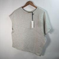 NWT Sydney Women's Size Small Gray Sweater Top Asymetrical Hem