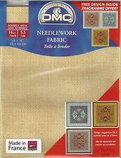 "VAT Free DMC 14 Count Ct Cross Stitch Marble Aida Fabric 14"" x 18"" 677 New"
