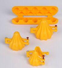 Ganpati Modak Plastic Mould, Yellow (Pack of 4) Indian Festival Sweet Maker