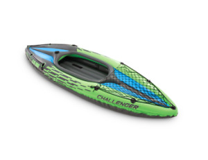 Intex Challenger K1 Inflatable Single Person Kayak Set - 11640 - Brand NEW