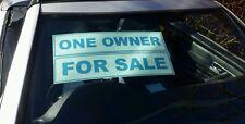 10 x Coche/vehículo para la venta signos/Pegatinas Auto se aferran, reutilizable, Surtido formulaciones