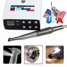 Dental Brushless Led Electric Micromotor With 15 Fiber Optic Contra Angle Fit Nsk