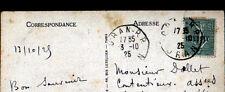 ORAN (ALGERIE) BATEAUX au PORT / DEFENSE MOBILE en 1925 / Timbre surchargé